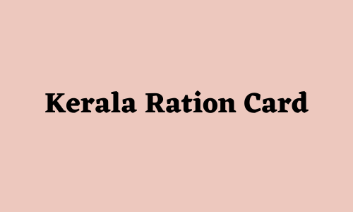 Kerala Ration Card Status