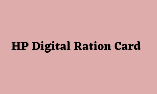 HP Digital Ration Card