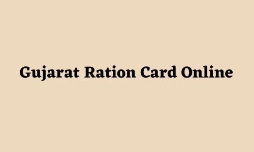Gujarat Ration Card Online